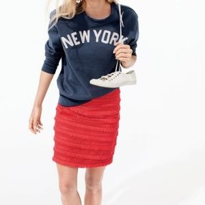 J. Crew Mini Fringy Skirt